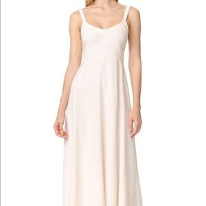 Elizabeth and James Cynthia Fit & Flare Midi Dress in Ivory